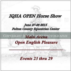 Open English Pleasure - Events 23 thru 29