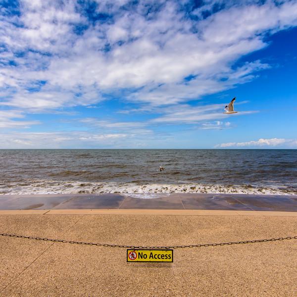 No access to Blackpool Beach