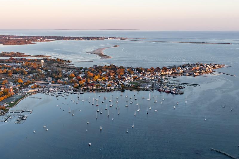 Stonington Harbor from the Air