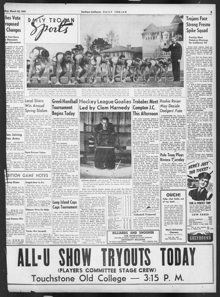 Daily Trojan, Vol. 32, No. 108, March 25, 1941