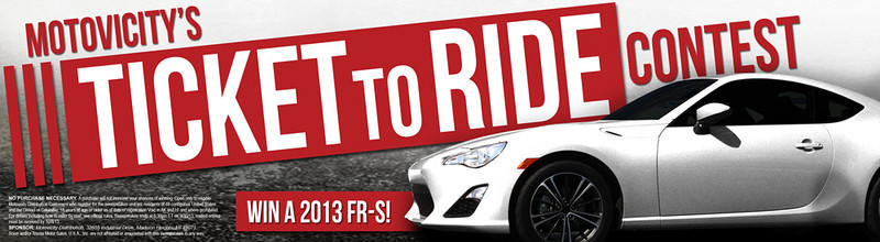 Motovicity, ticket to ride, scion frs