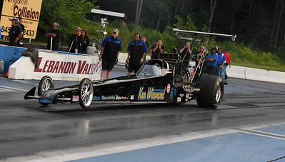 Top Alcohol Dragster on Track Action