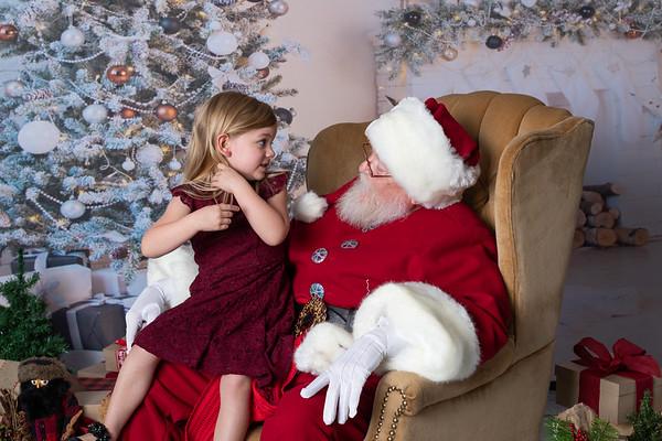 Santa at Wine & Design Montgomery TX