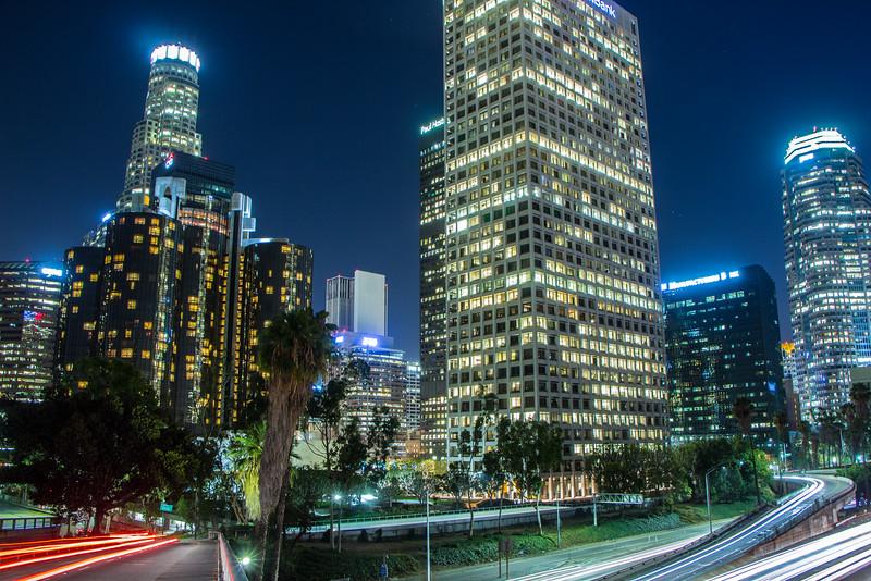 4th Street Bridge over the 110 in Downtown LA