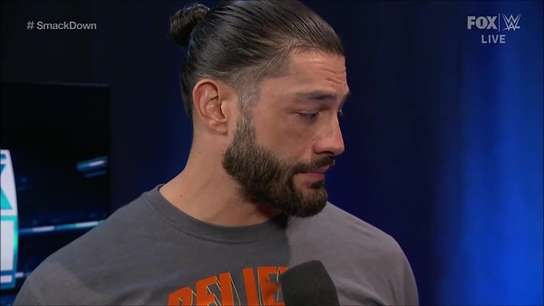 Roman Reigns - Screencaps / backstage at SD - Dec 6, 2019