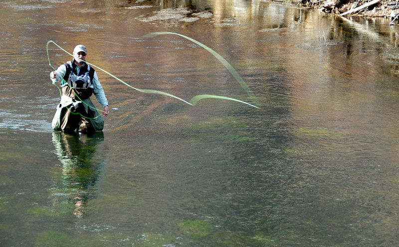 11/7/07 – I needed a break from work and drove up Provo Canyon. This fly fisherman was enjoying the very warm fall we are having.