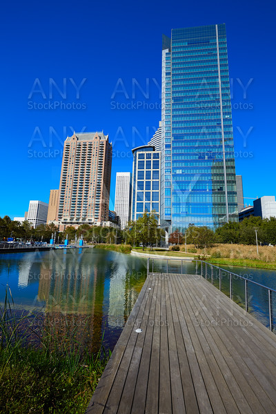 Houston Discovery green park in downtown