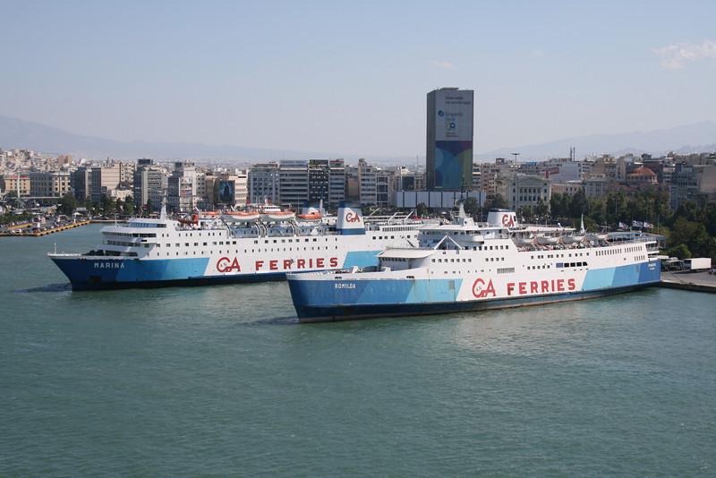 2009 - F/B ROMILDA and MARINA laid up in Piraeus.