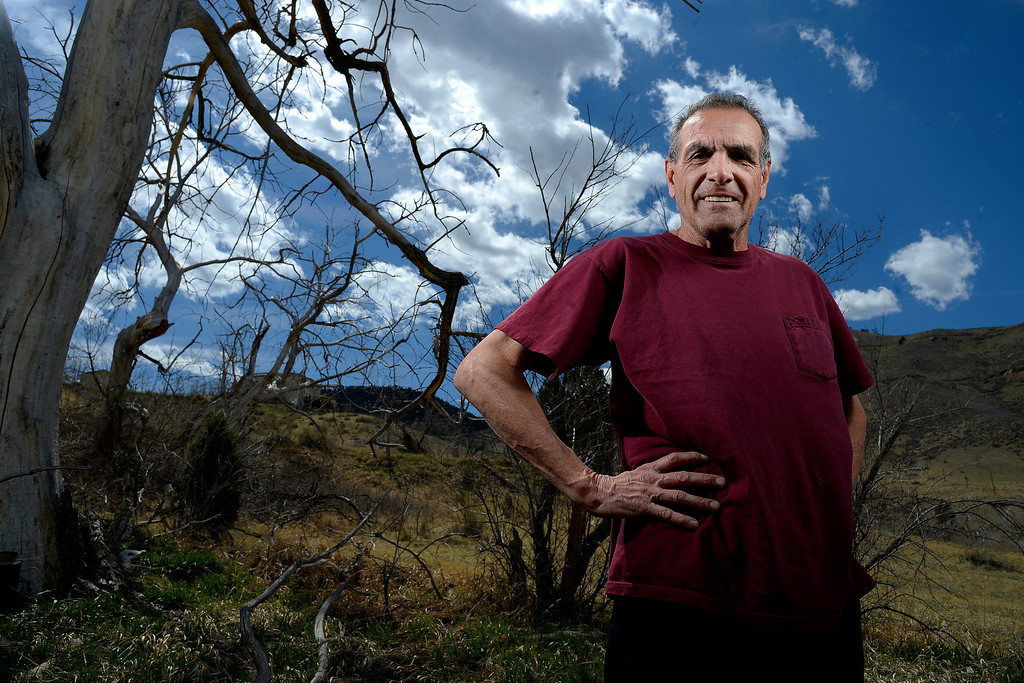 . Mountain runner Rick Trujillo is a member of the 2014 Colorado Running Hall of Fame class. Trujillo poses at Lookout Mountain on Wednesday, April 9, 2014. (Photo by AAron Ontiveroz/The Denver Post)