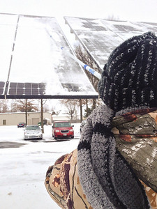 Solar Panel Snow Clearing