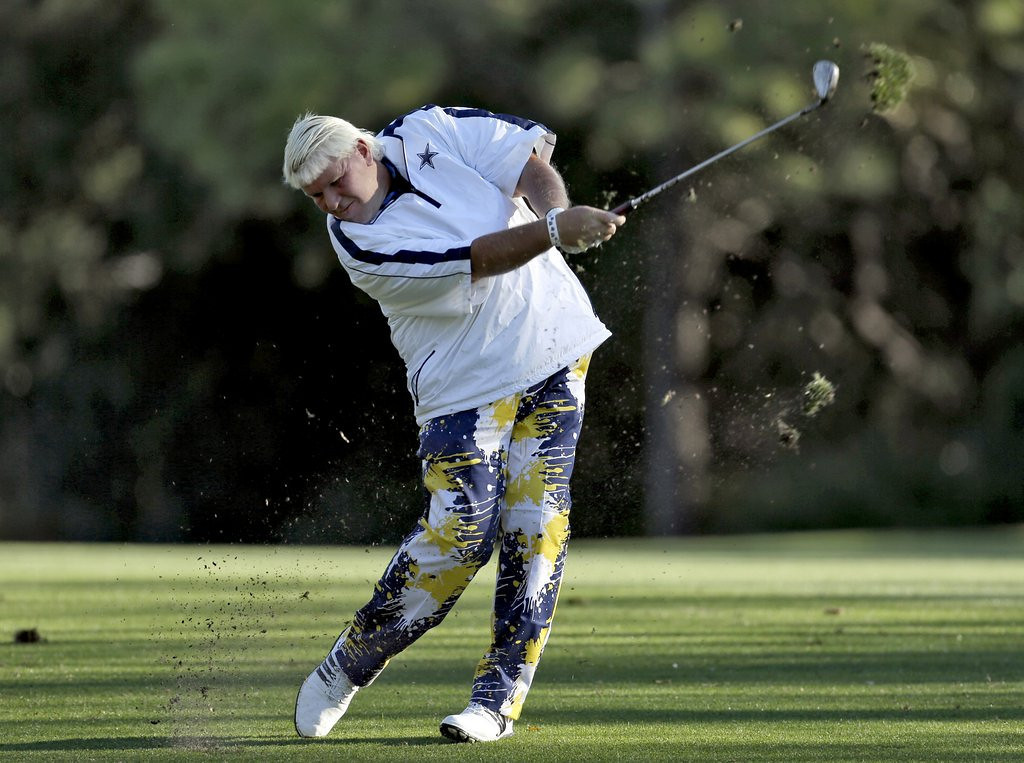 ". <p><b> Troubled PGA golfer John Daly made more bad headlines on Friday when he did this on the 16th hole of the Valspar Championship � </b> <p> A. Took 12 shots <p> B. Drank 12 shots <p> C. All of the above <p><b><a href=\'http://www.golfchannel.com/news/golftalkcentral/daly-cards-12-en-route-career-worst-90/\' target=""_blank\"">HUH?</a></b> <p>    (AP Photo/Chris O\'Meara)"