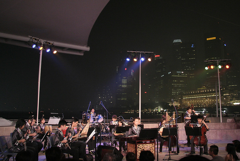 Singapore Youth Chinese Orchestra performing at the Esplanade Waterfront  https://www.sco.com.sg/sco/syco/
