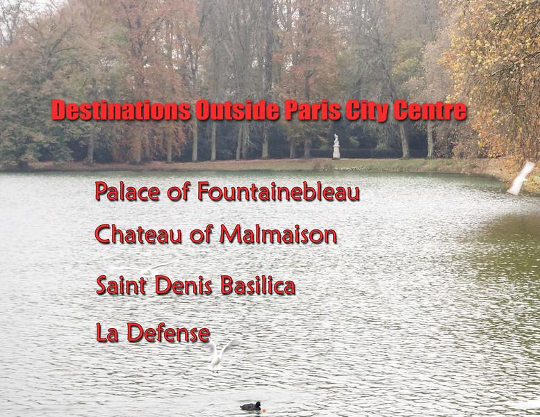Destinations Outside Paris City Centre