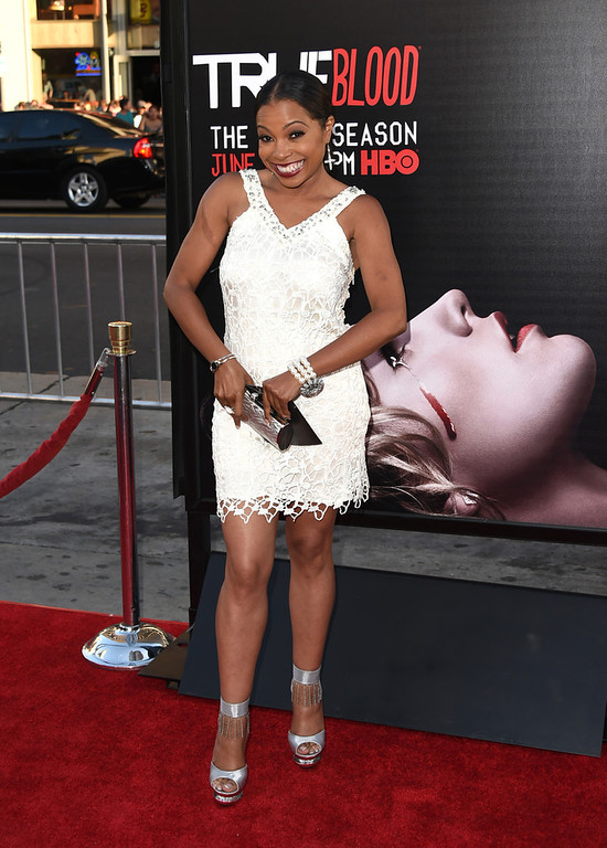""". Actress Paula Jai Parker attends the premiere of HBO\'s \""""True Blood\"""" season 7 and final season at TCL Chinese Theatre on June 17, 2014 in Hollywood, California.  (Photo by Jason Merritt/Getty Images)"""