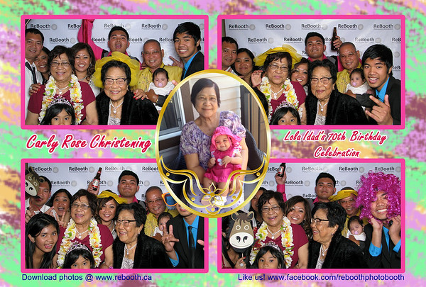 Carly Rose Christening & Lola Edad 70th birthday