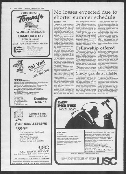 Daily Trojan, Vol. 94, No. 66, December 12, 1983