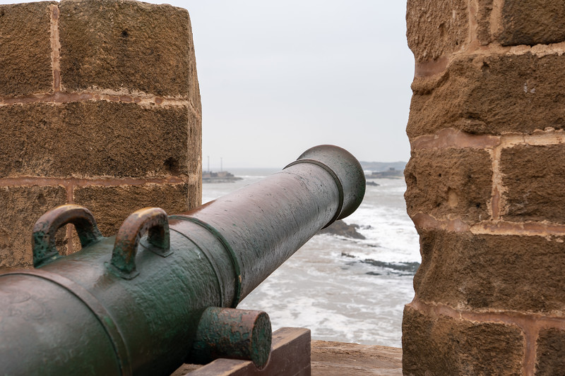 Cannon on the rampart in Essaouira