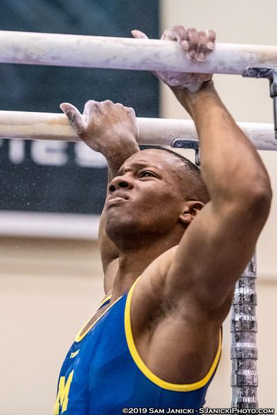 Parallel Bars - UM Men's Gymnastics Vs UIC 3-30-19
