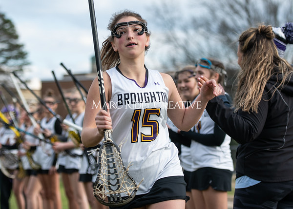 Broughton girls varsity lacrosse vs Middle Creek. February 28, 2020. MRC_5444