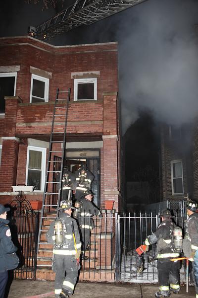 Working Fire 4847 Van Buren January 22, 2010