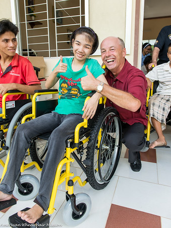 Wheelchair Distribution at Long Thoi Parish Center