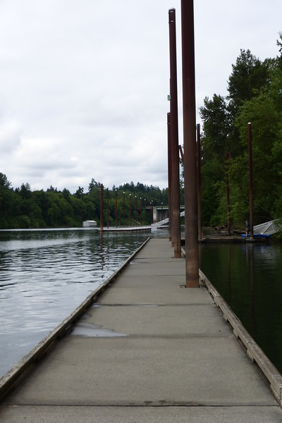 dock on the Willamette River