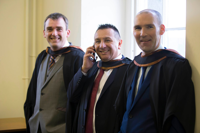 02/11/2016. Waterford Institute of Technology (WIT) Conferring Ceremonies November 2016. Pictured are Craig Crowley, Tramore, Co. Waterford, Nelson Paz from Piltown, Co. Kilkenny and Jeff Spencer from Kilmacow  Co. Kilkenny  who graduated Bachelor of Engineering (Hons). Picture: Patrick Browne. Picture: Patrick Browne