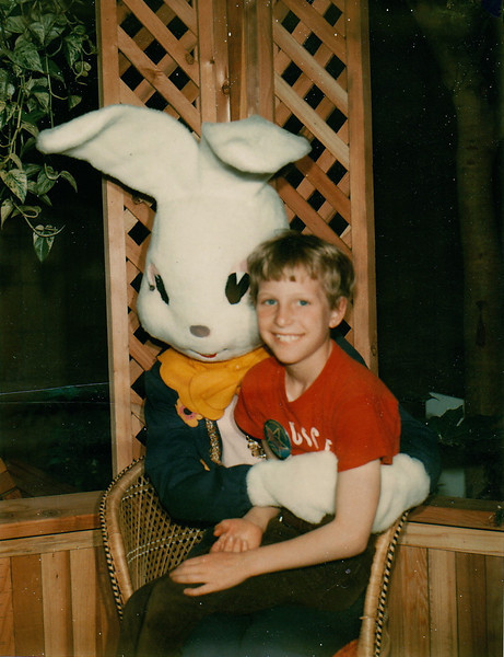 The Easter Bunny and Jeff.