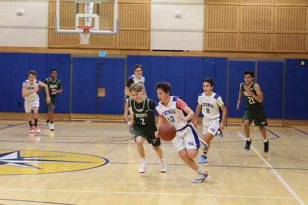 MMS Grades 7 & 8 Boys Basketball and MMS Cheerleading vs BHMS - January 21, 2020