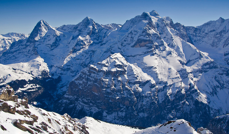 The Eiger, the Mönch and the Jungfrau.   Swiss Alps.