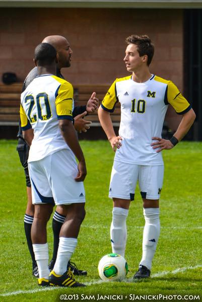 2nd Half of UM Men's Soccer Vs Wisconsin 10-20-13