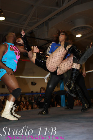 TRP 090404 - Mistress Belmont & Lea Morrison vs Luscious Latasha & Barbie