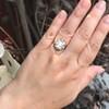 3.45ctw Antique Rose Cut Cluster Ring 12