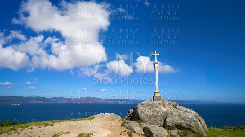 Cross in finisterre end of Saint James Way in Spain