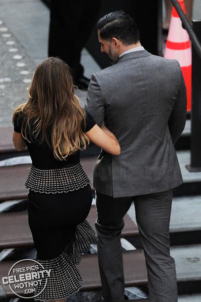 Sofia Vergara Has Trouble With Her Hair With Joe Manganiello In Hollywood, LA
