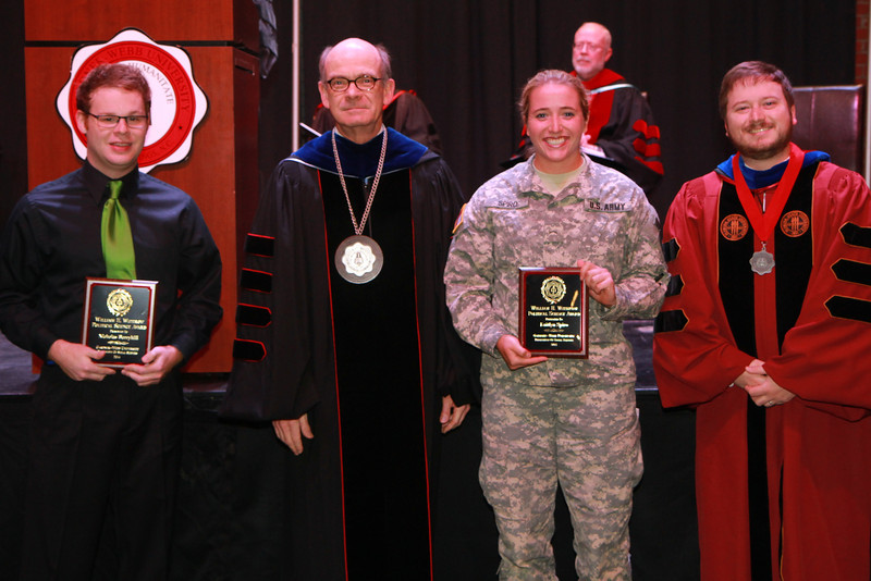 59th Academic Awards Day; Spring 2014. Political Science Award: Nicholas Christopher Berryhill and Kaitlyn Elizabeth Spiro