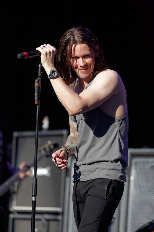 . Myles Kennedy of Slash with Myles Kennedy & The Conspirators performs on Tuesday, Sept. 9, 2014, at DTE Energy Music Theatre in Independence Township. Photo by Ken Settle