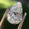 2.61ct Antique Pear Cut Diamond GIA I SI1 5