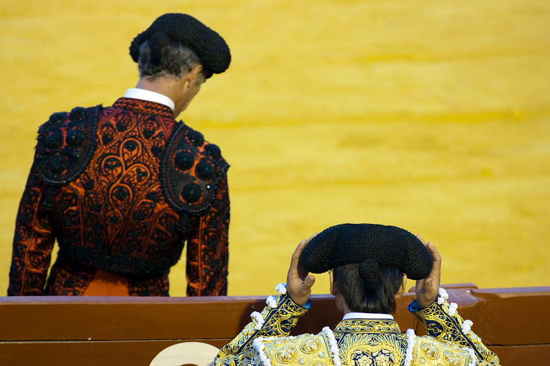 Bullfighters, Real Maestranza bullring, Seville, autonomous community of Andalusia, southern Spain