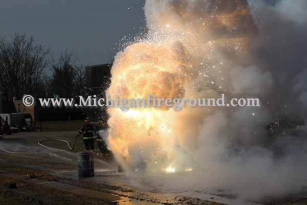 3/24/18 - Eaton Rapids magnesium fire training