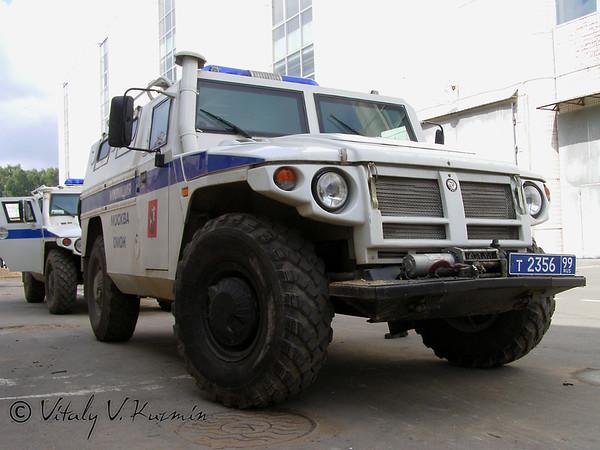 Moscow OMON SPM-1 on GAZ Tigr chassis