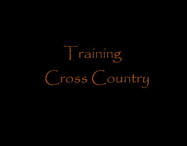 Training Cross Country.