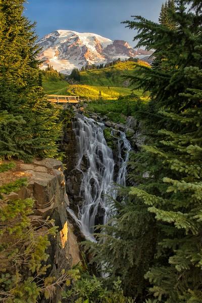 Mt. Rainier + Myrtle Falls