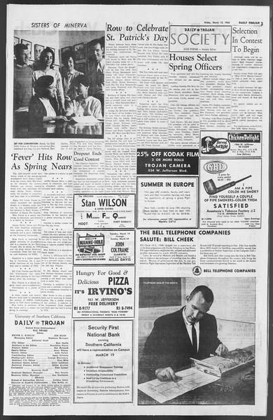 Daily Trojan, Vol. 54, No. 82, March 15, 1963