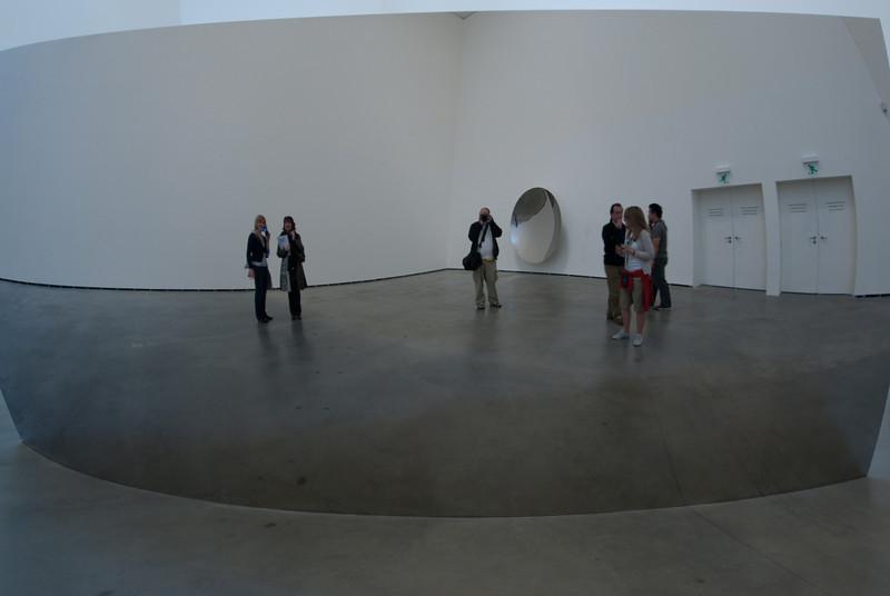 Mirror display in Guggenheim Museum in Bilbao, Spain