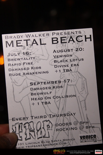 Metal Beach at Trip in Santa Monica.