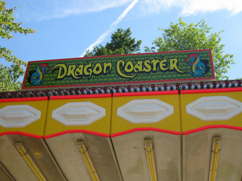 The Dragon Coaster had a new sign.