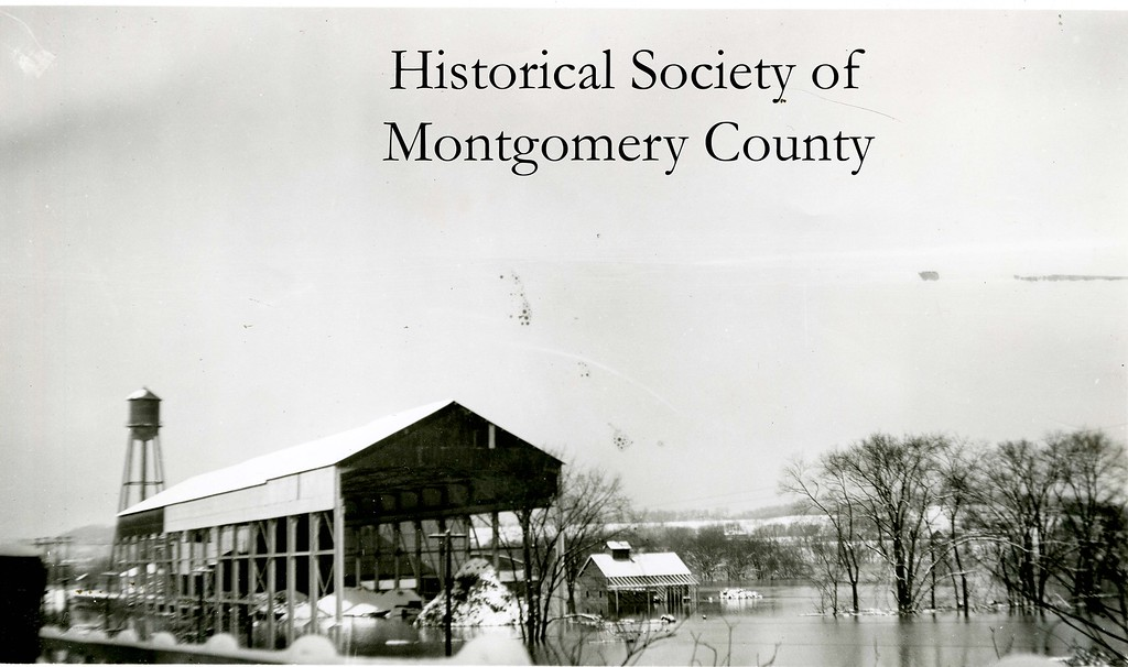 . This photo from the Historical Society of Montgomery County shows a flood in the Miquon section of Whitemarsh Township. The historical society believes this flood occurred in November 1950.