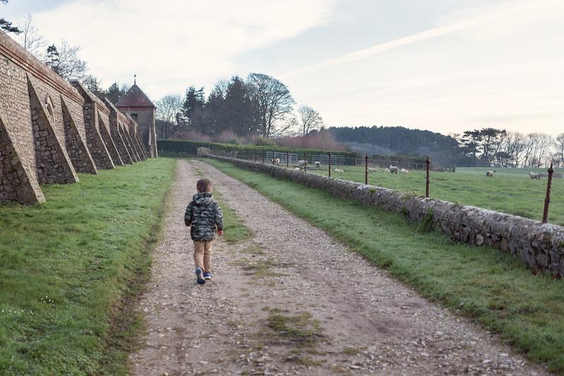 Walking the perimeter - walled garden - Devon