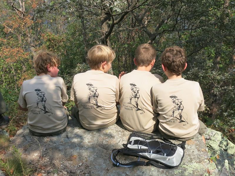 Troll Patrol, enjoying the summit of Signal Knob in the GW National Forest.